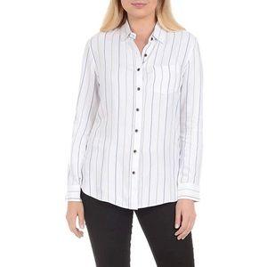 Jachs Girlfriend Blue White Button Down Shirt